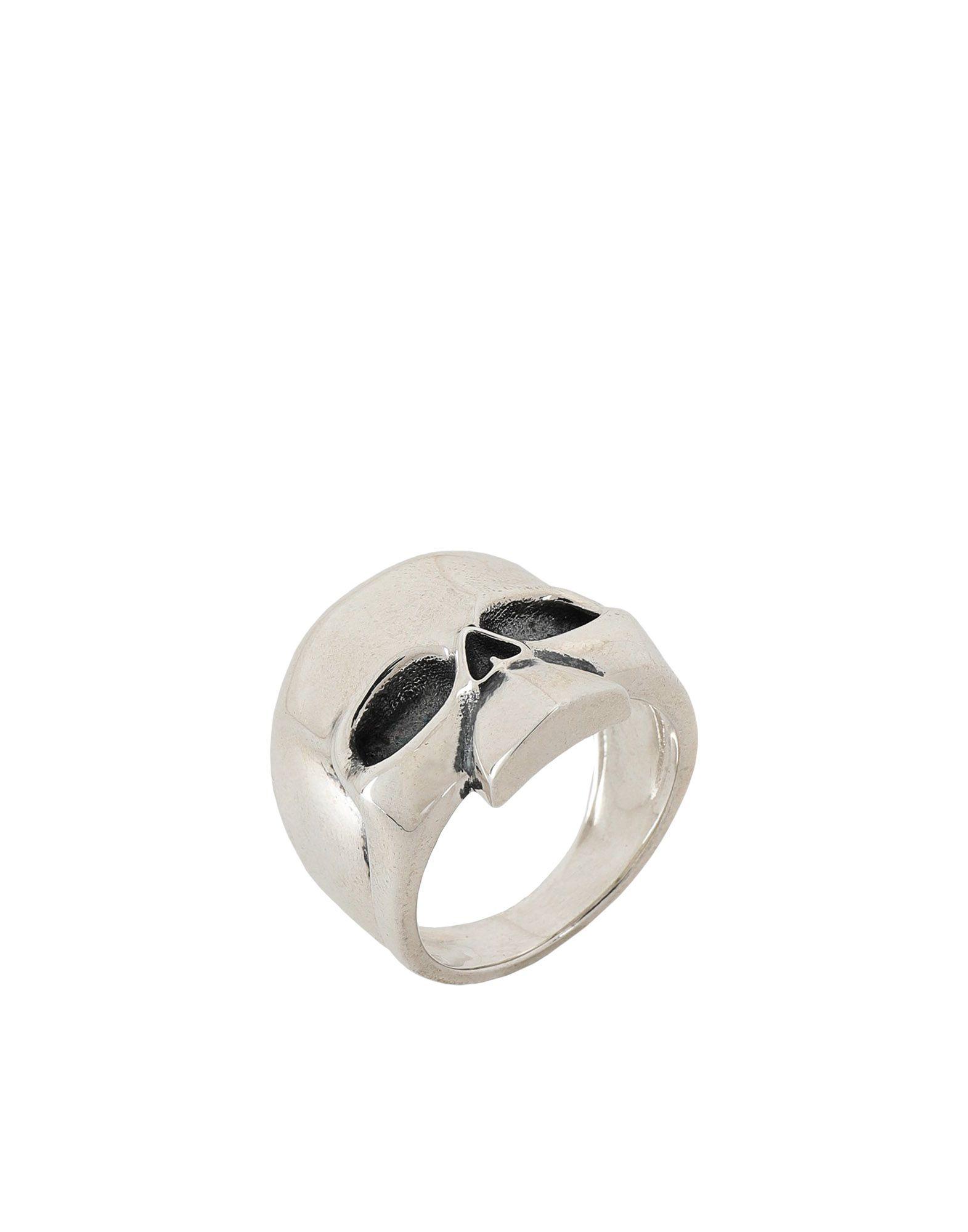 《期間限定 セール開催中》NOVE25 メンズ 指輪 シルバー 19 シルバー925/1000 BASIC SKULL RING