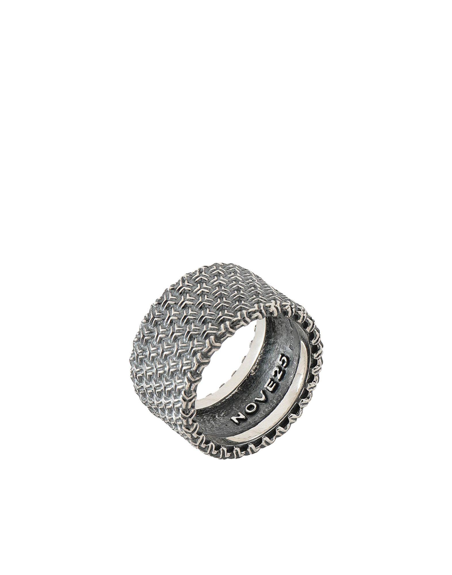 《期間限定 セール開催中》NOVE25 メンズ 指輪 シルバー 20 シルバー925/1000 3D TEXTURE BAND RING
