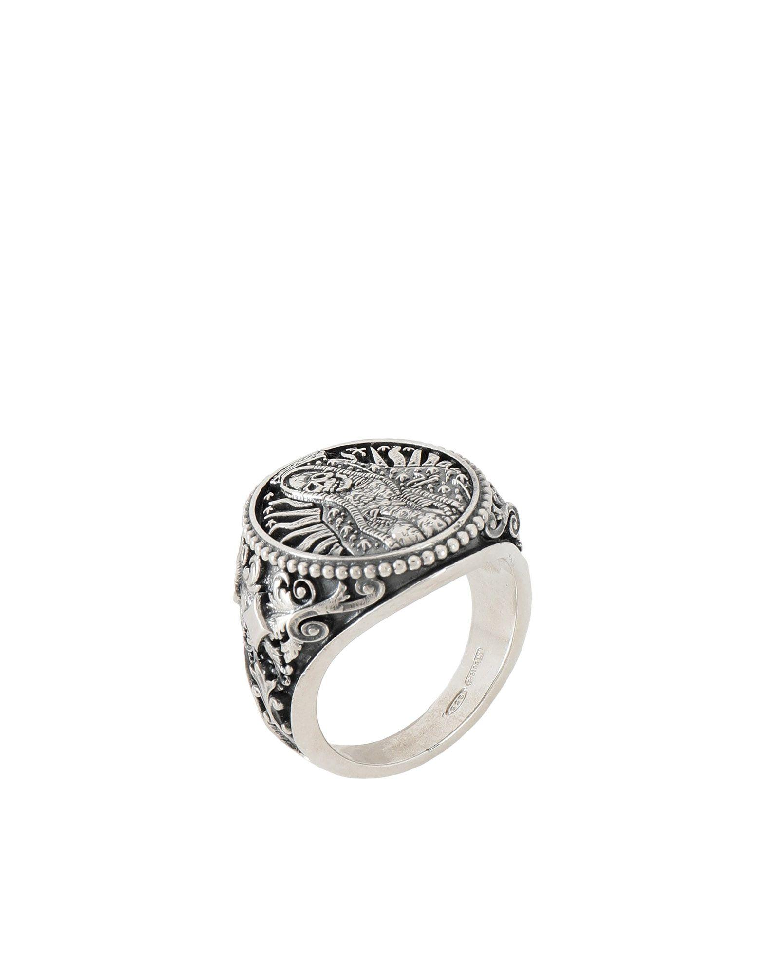 《期間限定 セール開催中》NOVE25 メンズ 指輪 シルバー 14 シルバー925/1000 SANTA MUERTE OVAL RING