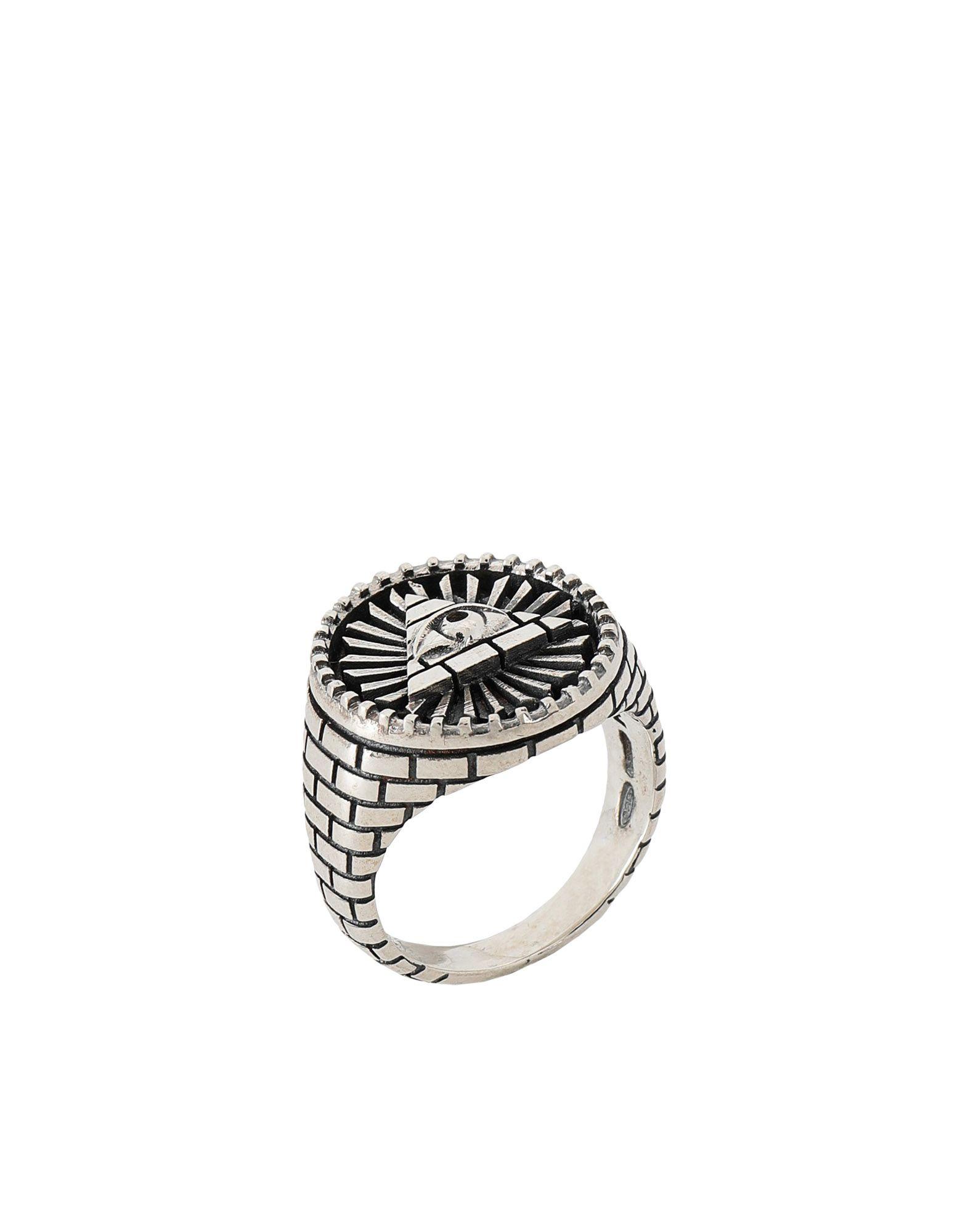 《期間限定 セール開催中》NOVE25 メンズ 指輪 シルバー 15 シルバー925/1000 ALL-SEEING EYE SIGNET RING