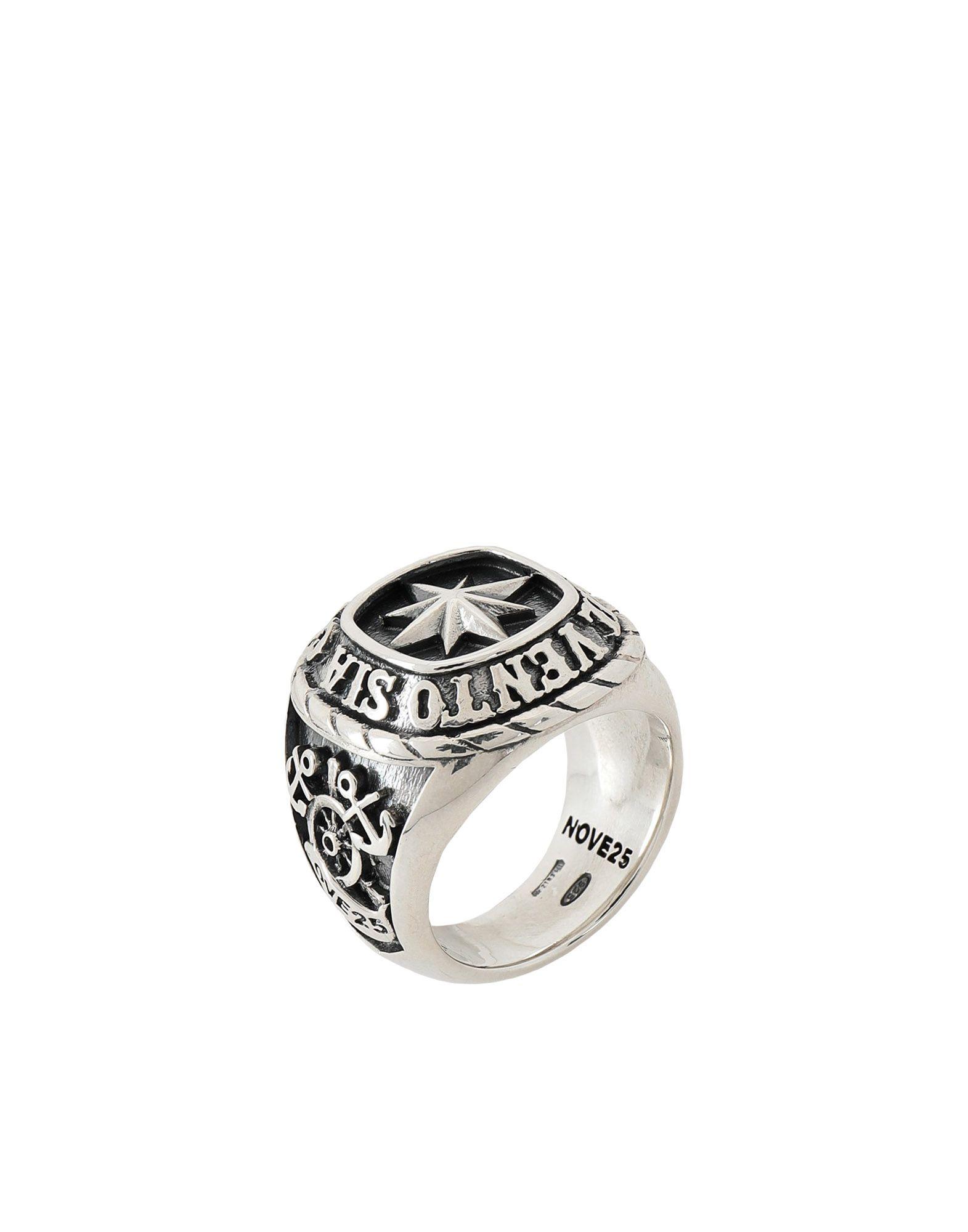 《期間限定 セール開催中》NOVE25 メンズ 指輪 シルバー 14 シルバー925/1000 TRADITIONAL WIND ROSE RING