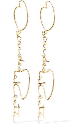 OSCAR DE LA RENTA Gunmetal-tone earrings