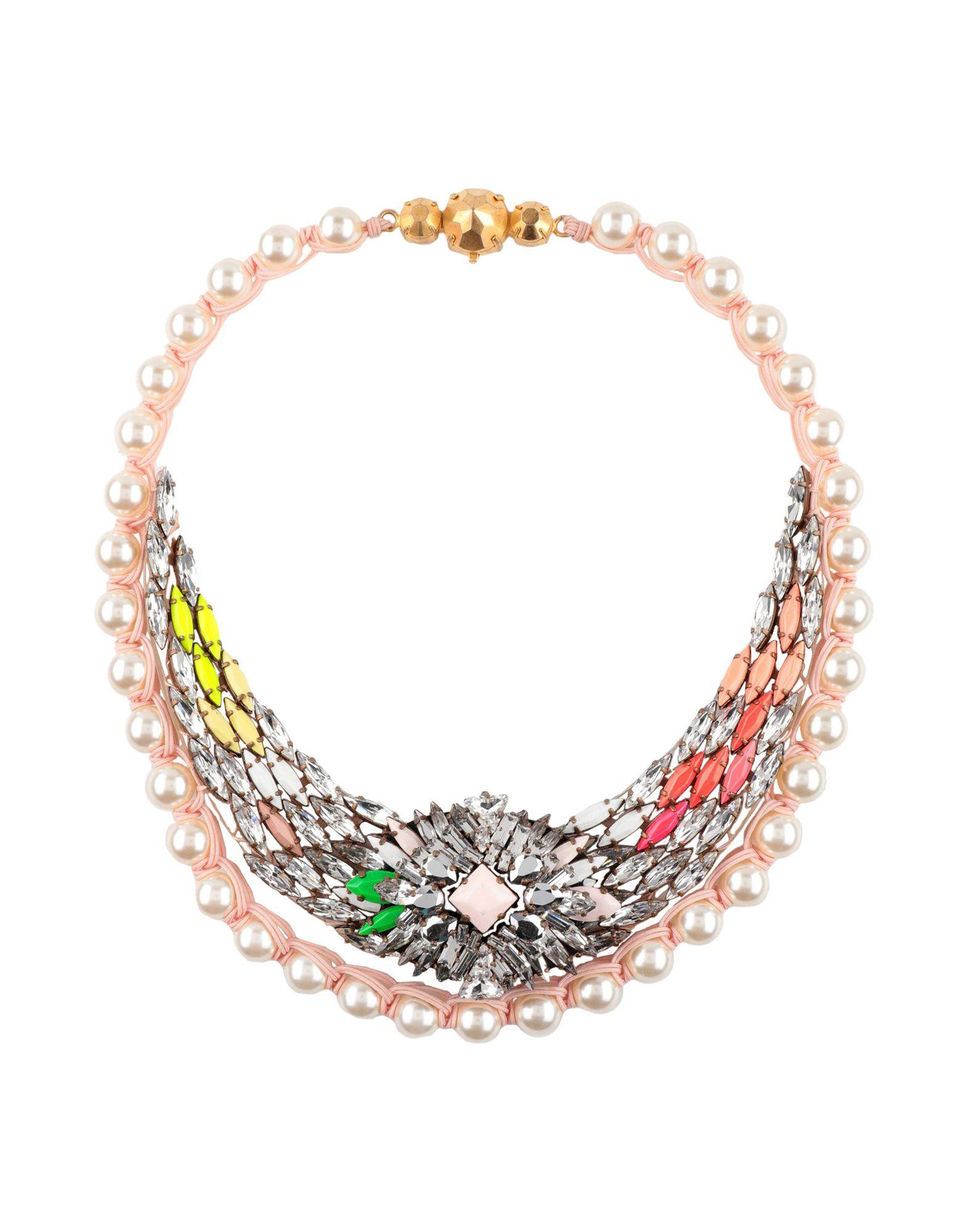 《送料無料》SHOUROUK レディース ネックレス ライトピンク プラスティック / 紡績繊維 / 金属
