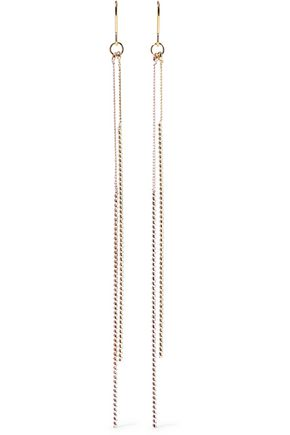 KENNETH JAY LANE Gold and rose gold-tone earrings