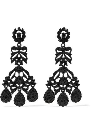 KENNETH JAY LANE Crystal clip earrings