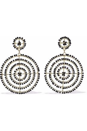 KENNETH JAY LANE Gold-tone bead earrings