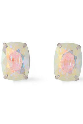 CHRISTOPHER KANE Silver-tone Swarovski crystal earrings