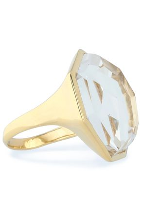 IPPOLITA 18-karat gold quartz ring