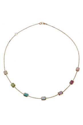 IPPOLITA 18-karat gold, crystal and stone necklace