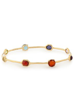 IPPOLITA 18-karat gold multi-stone bangle