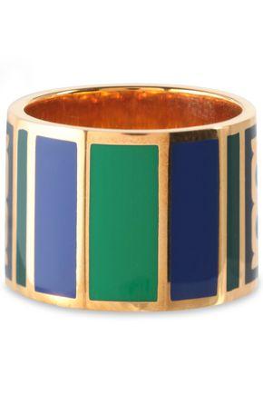 TORY BURCH Gold-tone enamel ring