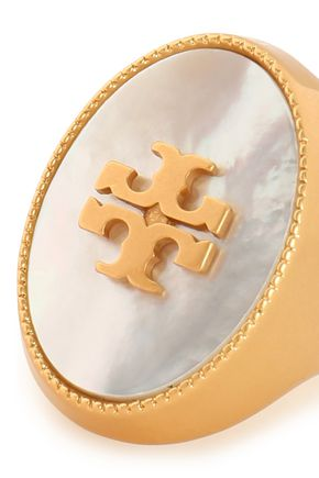 TORY BURCH Gold-tone Mother-of-Pearl ring