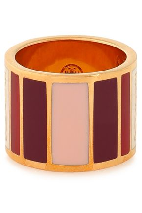 TORY BURCH Geo gold-tone resin ring