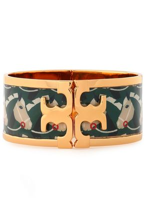 Gold-tone enamel bangle