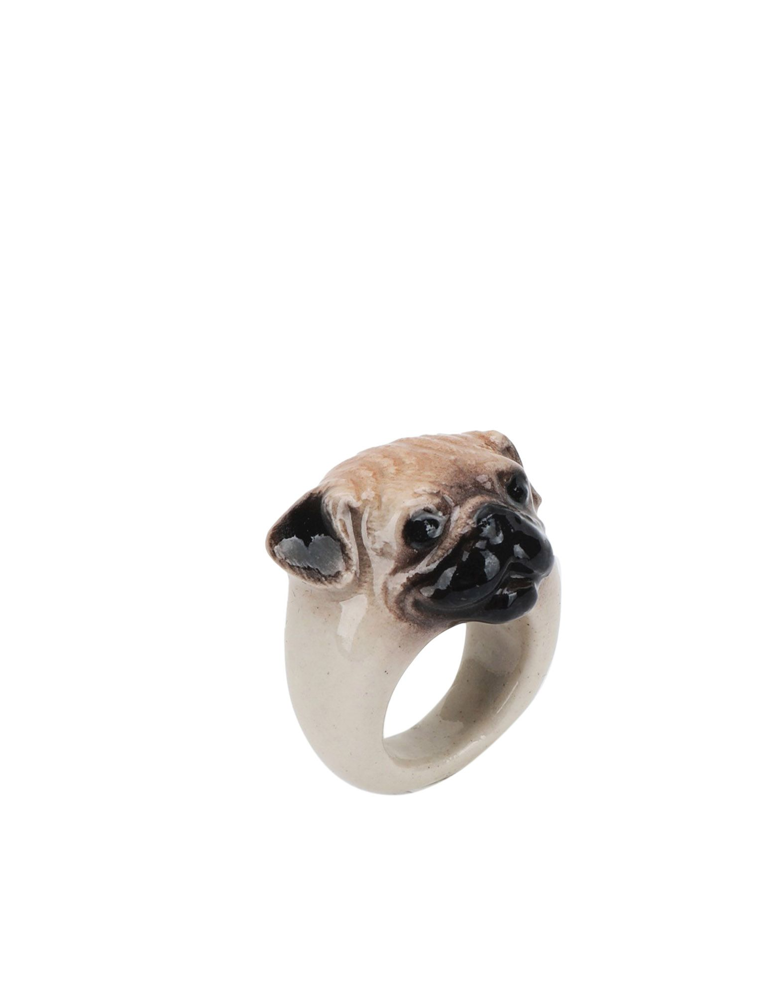 《セール開催中》NACH レディース 指輪 ゴールド M セラミック 60% / 真鍮/ブラス 40% Pug Dog ring