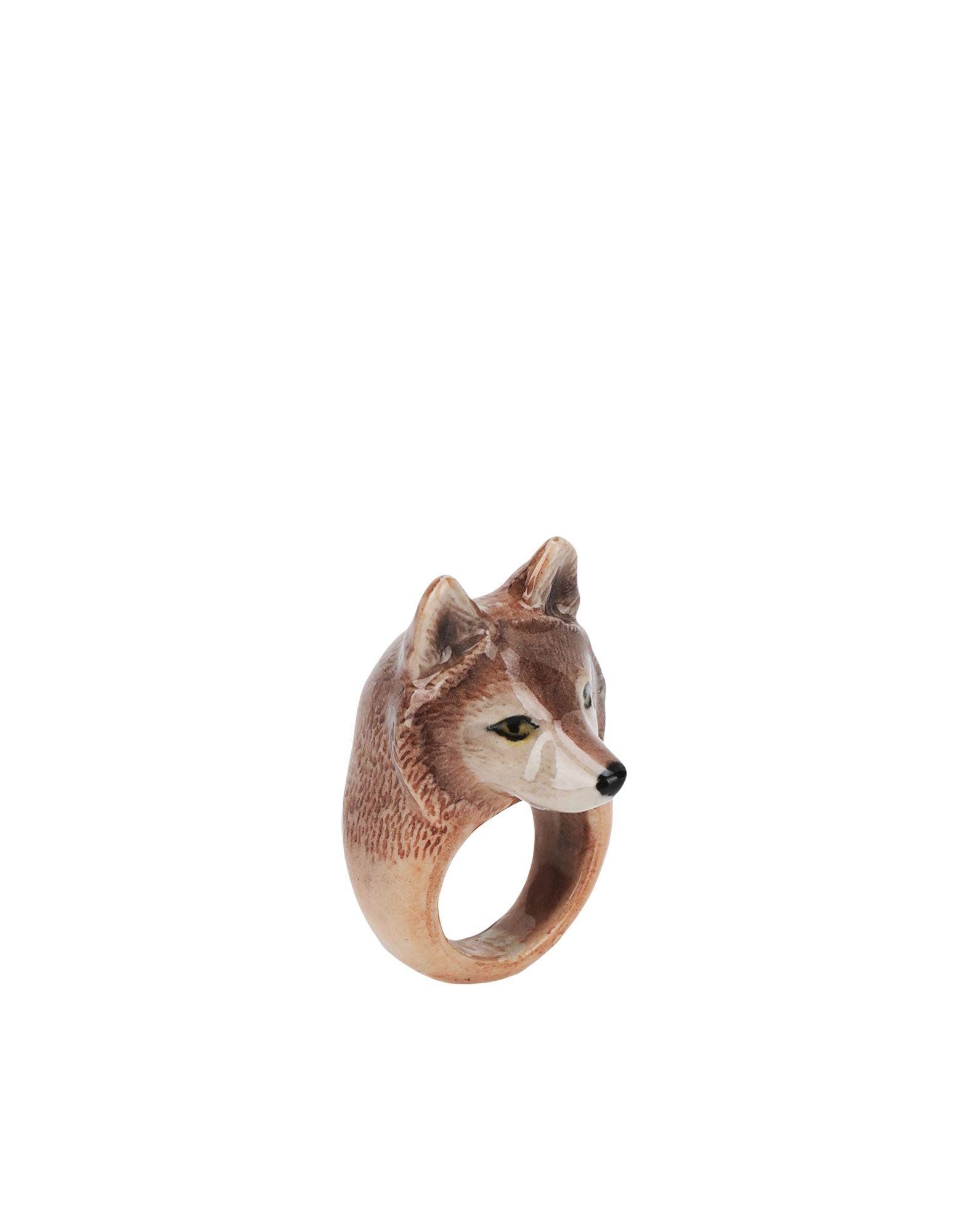 《期間限定 セール開催中》NACH レディース 指輪 グレー one size セラミック 100% Wolf ring