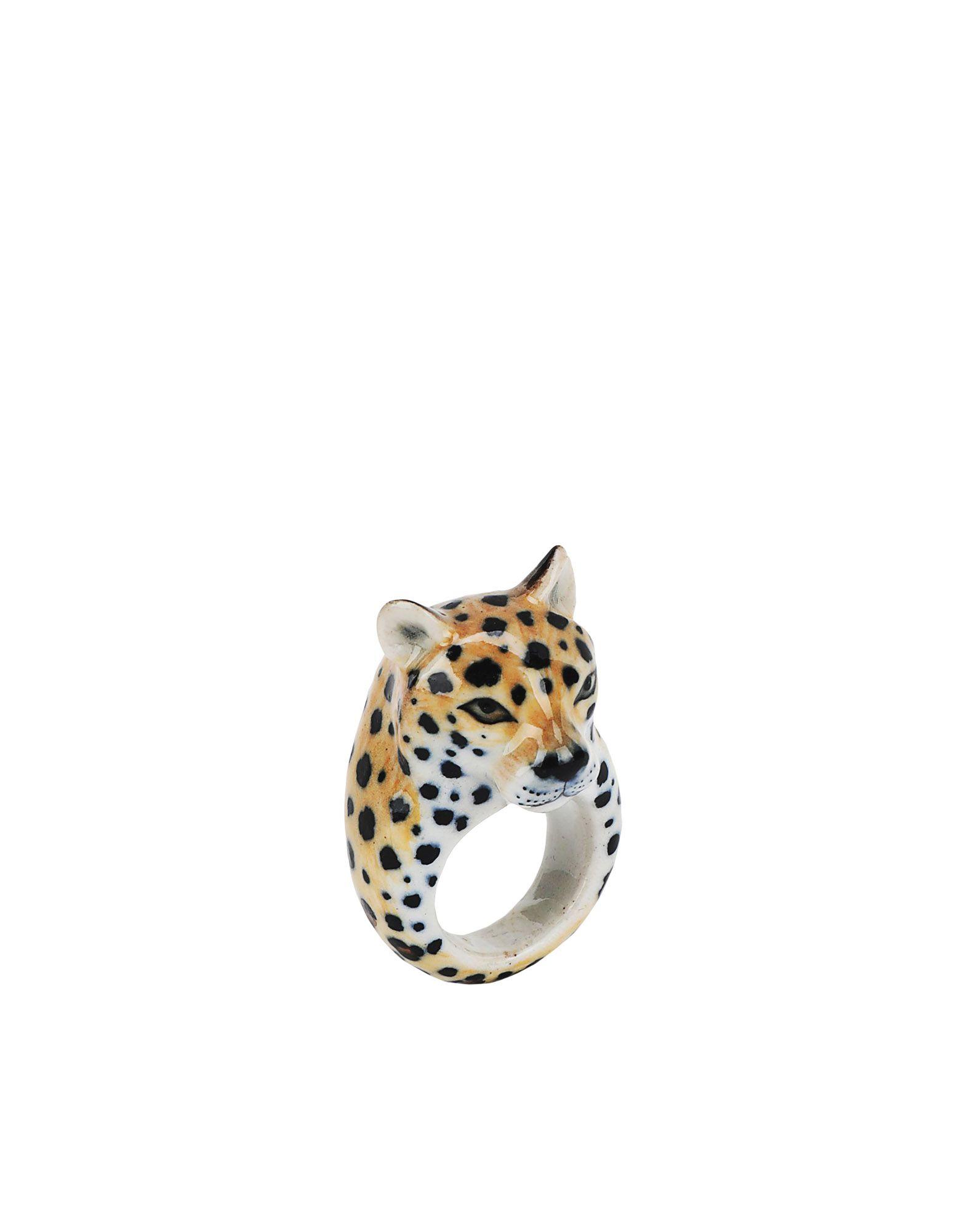 《期間限定 セール開催中》NACH レディース 指輪 ベージュ S セラミック 100% Cheetah ring
