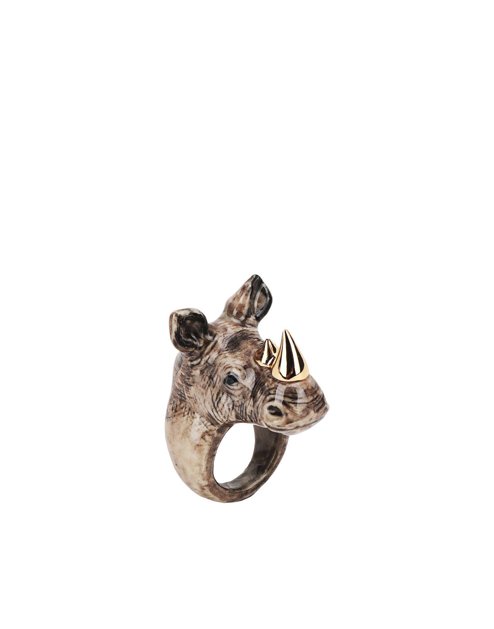 《期間限定 セール開催中》NACH レディース 指輪 グレー M セラミック 100% Gold rhino ring