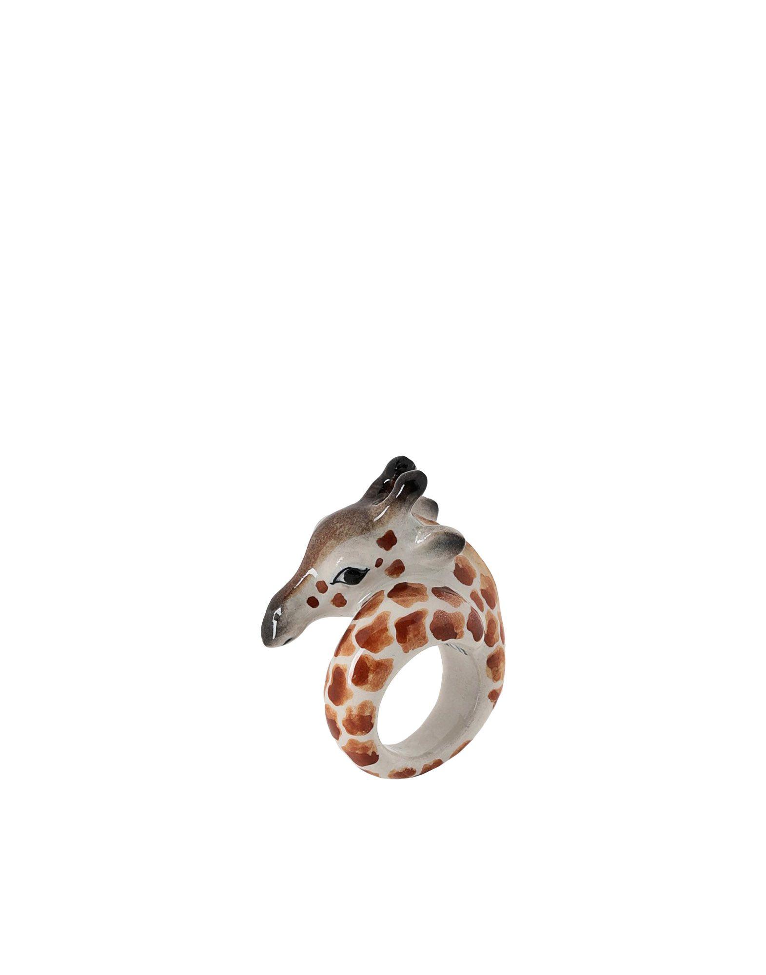 《期間限定 セール開催中》NACH レディース 指輪 ブラウン M セラミック 100% Giraffe ring