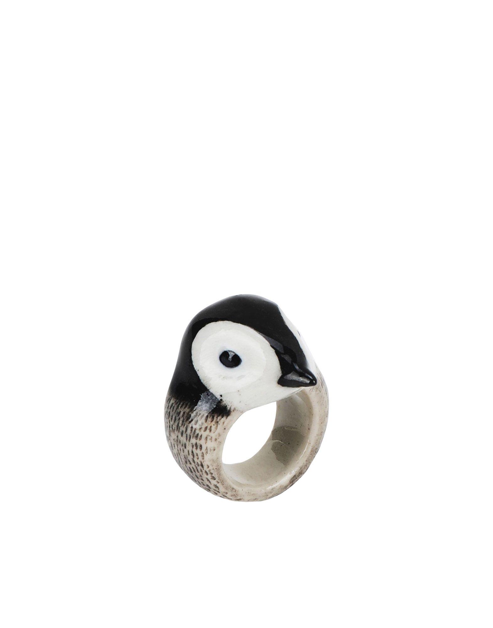 《期間限定 セール開催中》NACH レディース 指輪 ブラック M セラミック 100% Penguin ring