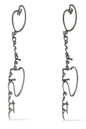OSCAR DE LA RENTA Gunmetal-tone earrings