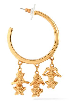 OSCAR DE LA RENTA Gold-tone earrings