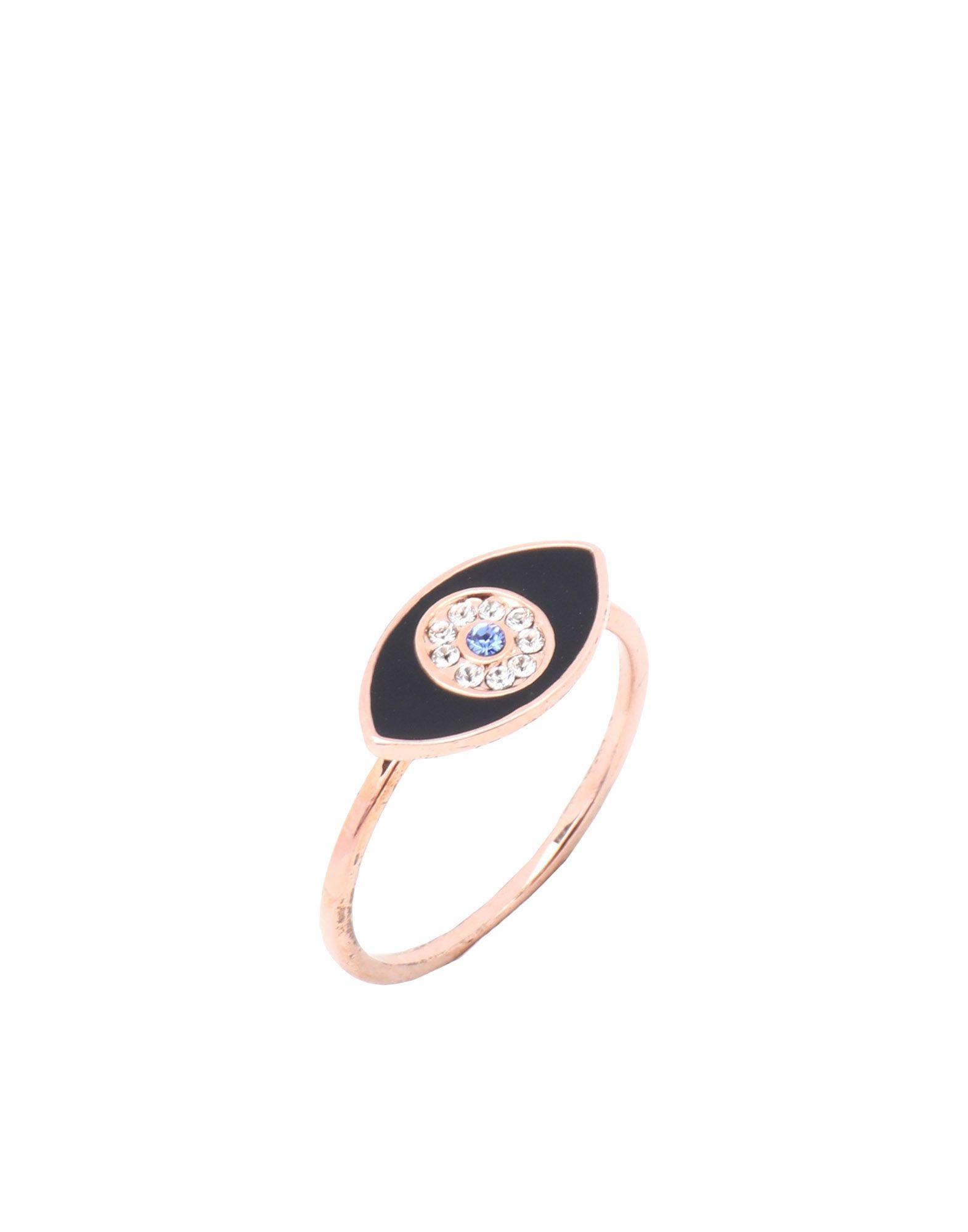 《セール開催中》EYLAND レディース 指輪 カッパー S 真鍮/ブラス / クリスタル / スワロフスキー