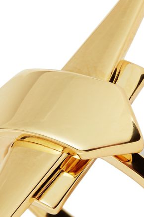 NOIR JEWELRY Shape Up 14-karat gold-plated ring