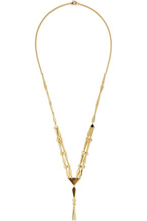 NOIR JEWELRY Make A Connection 14-karat gold-plated necklace
