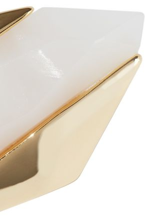 NOIR JEWELRY Light Beam 14-karat gold-plated resin ring