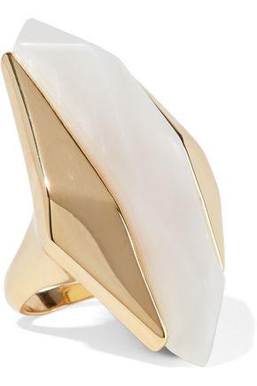 NOIR™JEWELRY Light Beam 14-karat gold-plated resin ring