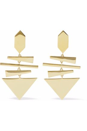 NOIR JEWELRY Construct 14-karat gold-plated earrings