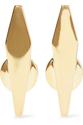 NOIR JEWELRY Break the Mold 14-karat gold-plated earrings