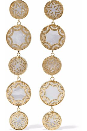 NOIR™JEWELRY Gold-tone faux pearl earrings