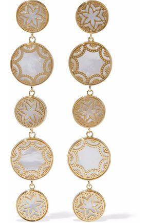 NOIR JEWELRY Gold-tone faux pearl earrings