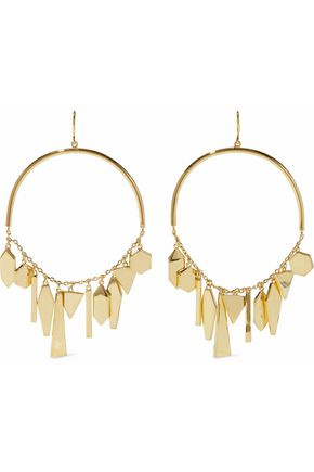 NOIR™JEWELRY Shapeshifter 14-karat gold-plated earrings