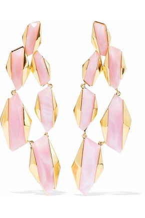 NOIR JEWELRY Sparks Fly 14-karat gold-plated resin earrings