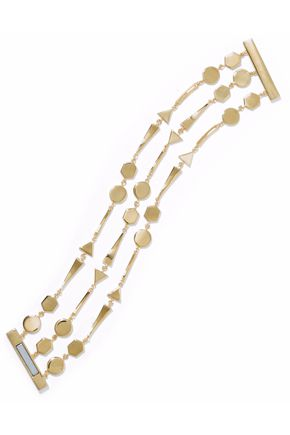NOIR JEWELRY Grid Work 14-karat gold-plated bracelet