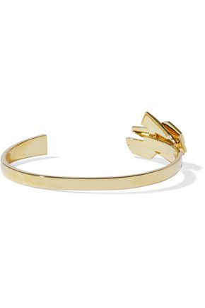 NOIR JEWELRY Metamorphisis 14-karat gold-plated cuff