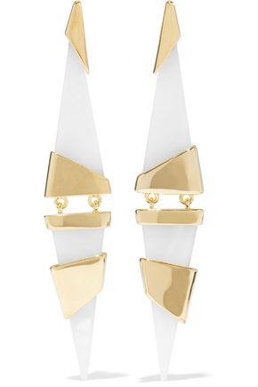 NOIR™JEWELRY 14-karat gold-plated resin earrings