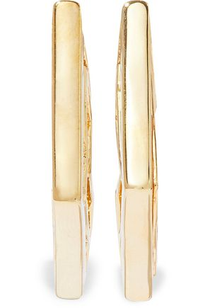 NOIR JEWELRY Touch of Luster 14-karat gold-plated resin earrings