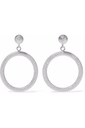 CAROLINA BUCCI Gypsy small 18-karat white gold hoop earrings