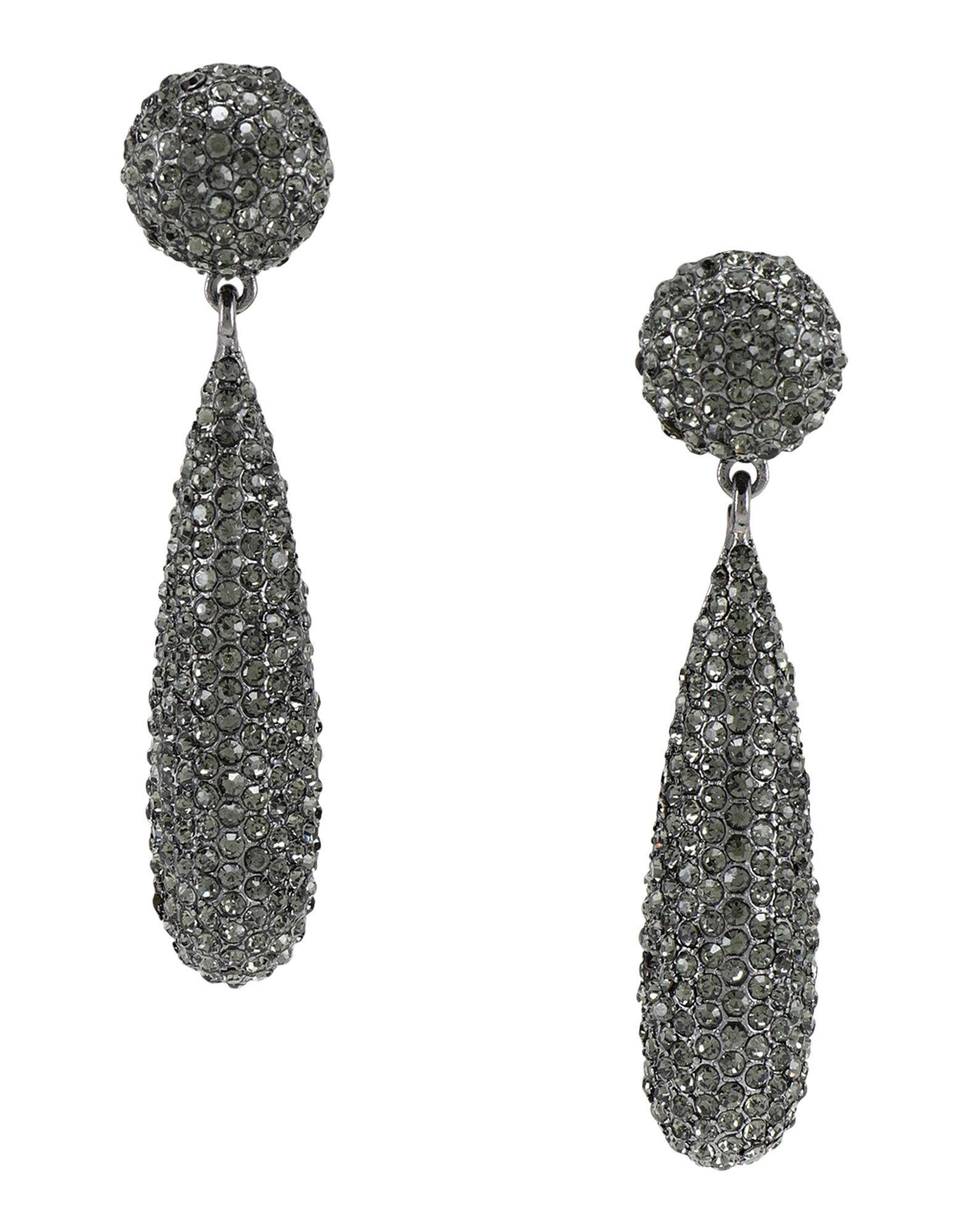 《送料無料》KENNETH JAY LANE レディース イヤリング 鉛色 スズ 99% / 銀 1% / ガラス gunmetal/ black diamond pave' bat shape drop pierced ear