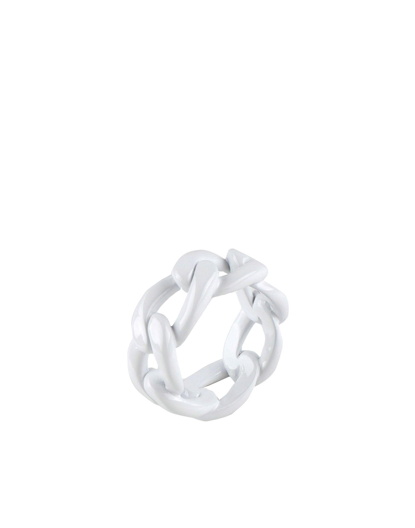 《送料無料》MAISON MARGIELA メンズ 指輪 ホワイト XS 真鍮/ブラス
