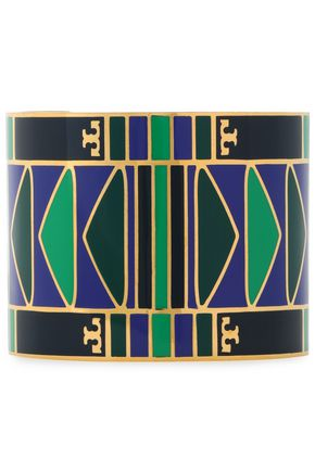 TORY BURCH | Tory Burch Gold-Tone Resin Cuff | Goxip