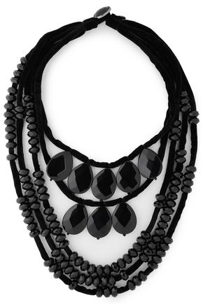 TORY BURCH Velvet bead necklace