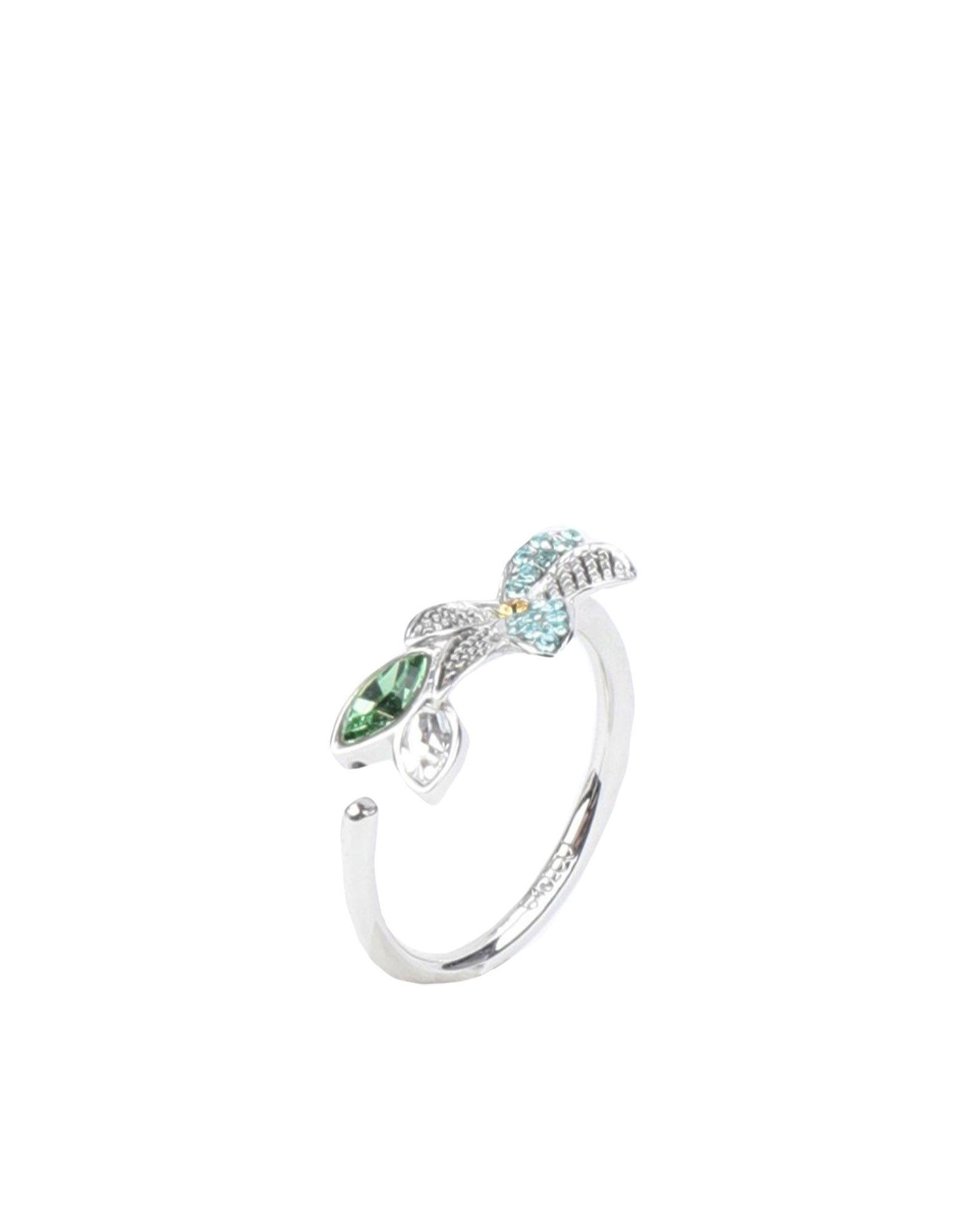 《セール開催中》CA & LOU レディース 指輪 シルバー one size 真鍮/ブラス / クリスタル