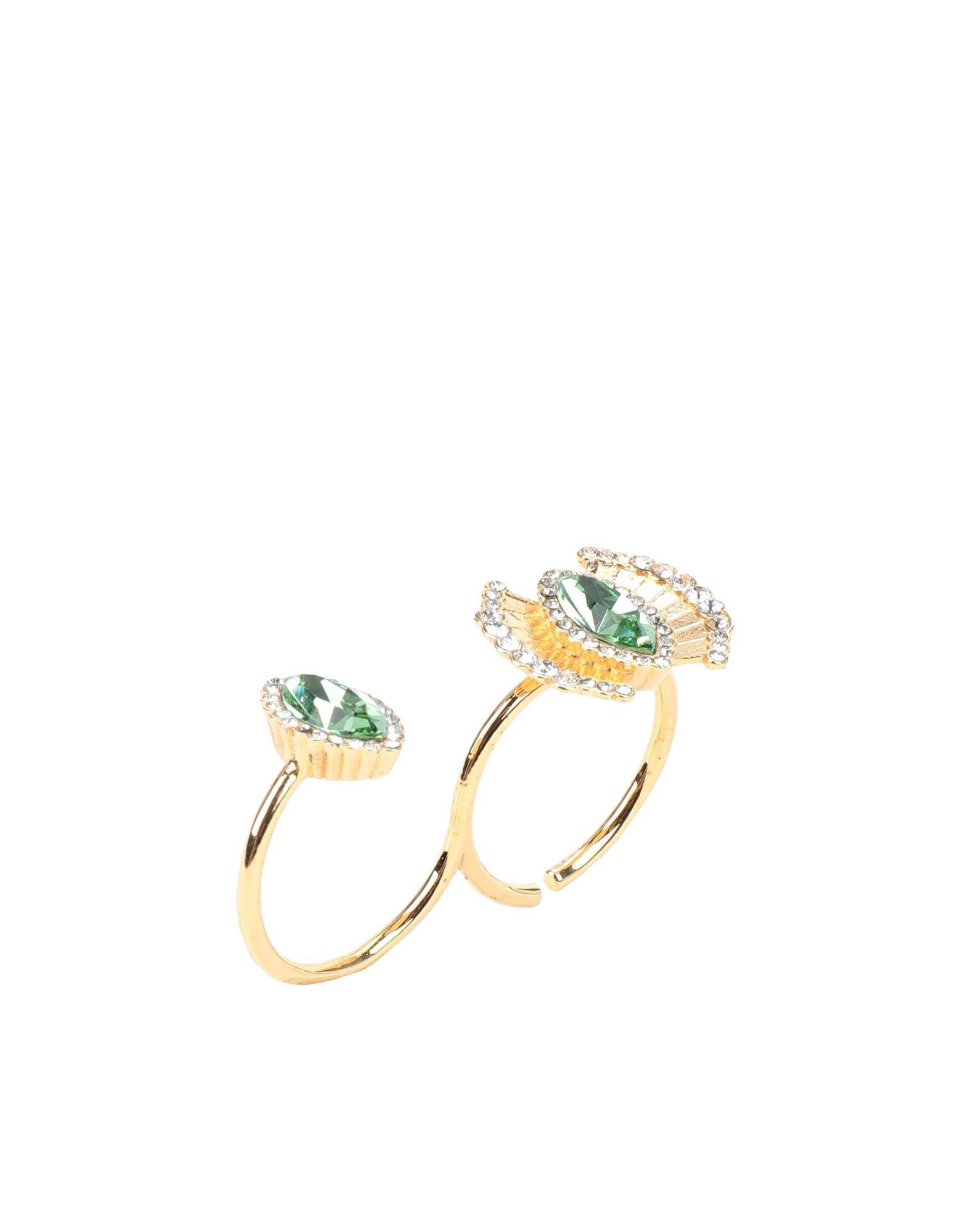 《セール開催中》CA & LOU レディース 指輪 ゴールド M 真鍮/ブラス / クリスタル