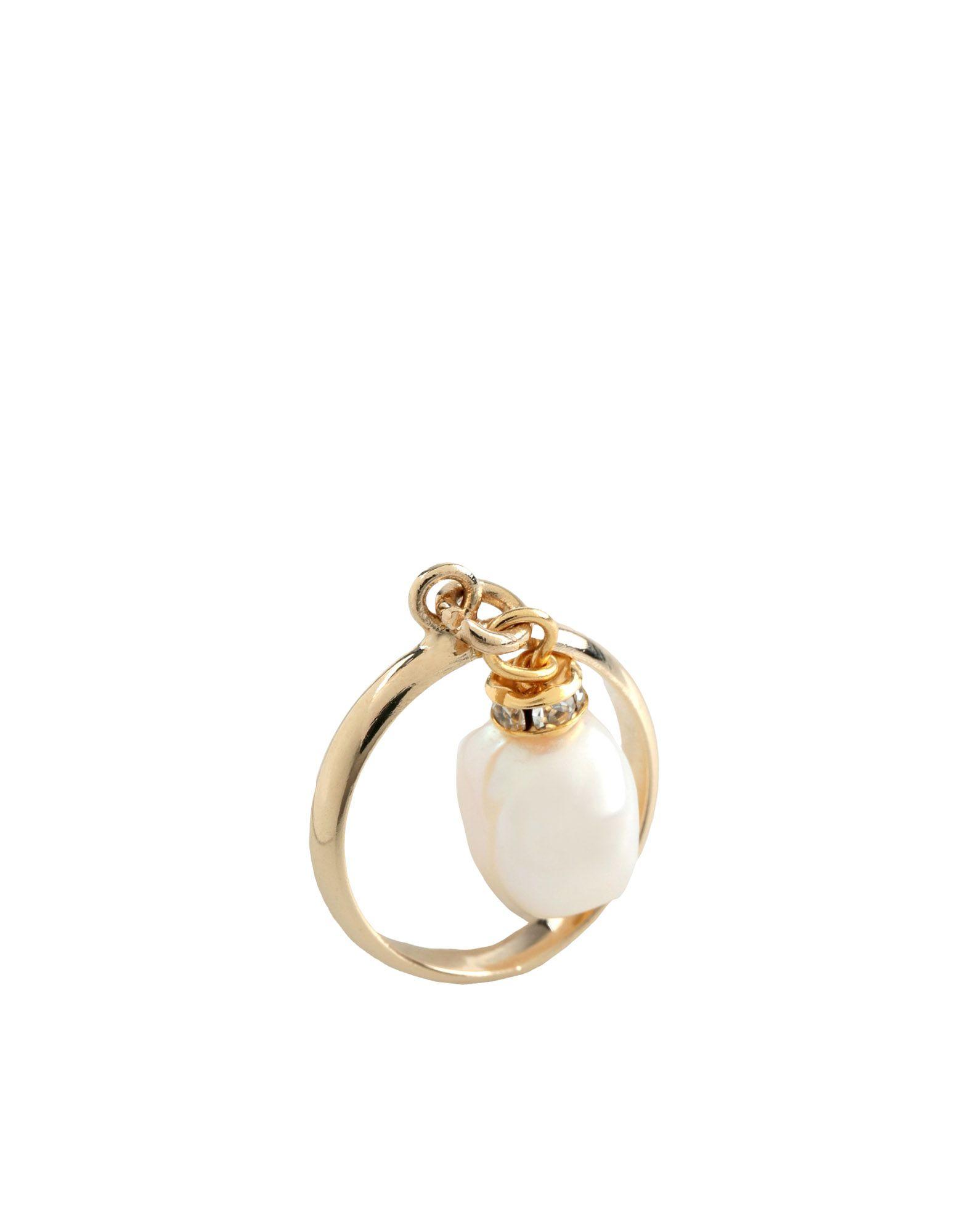 《セール開催中》FAUSTO PUGLISI レディース 指輪 ホワイト 16 金属