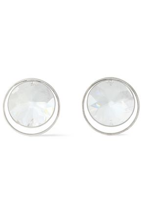 MAISON MARGIELA Silver-tone crystal earrings